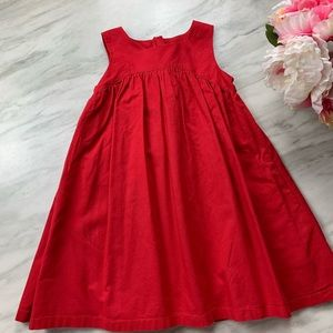 Primary red cotton dress